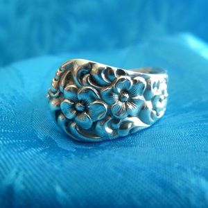 Jewelry - STERLING SILVER SPOON RING CIRCA